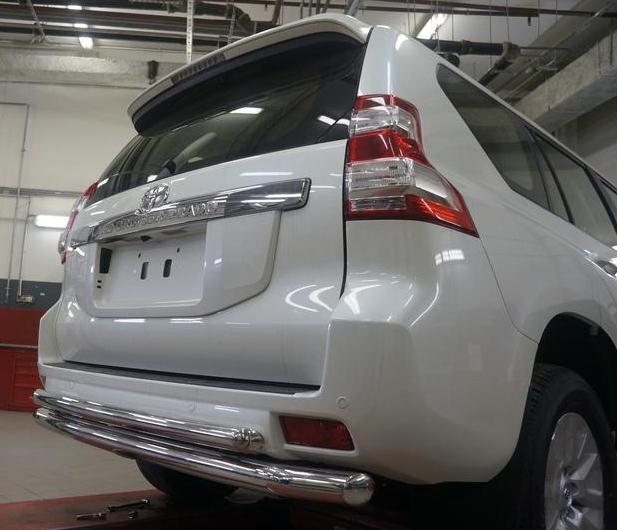 Защита заднего бампера Land Cruiser Prado 150
