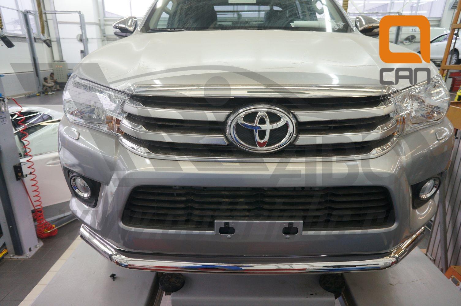 Защита переднего бампера Toyota Hilux (2015-) (одинарная) d76 2